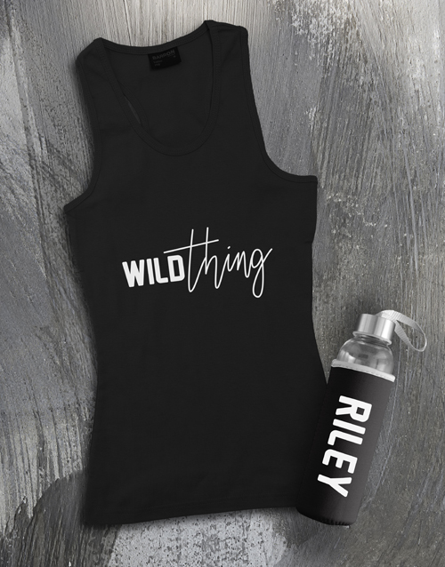 clothing: Personalised Wild Thing Racerback and Water Bottle!