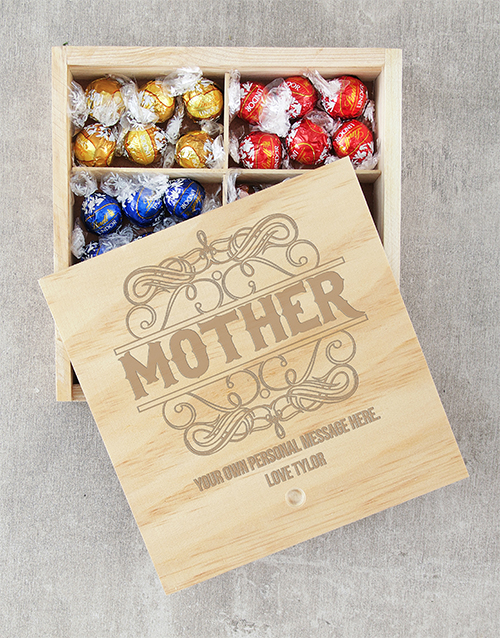 personalised: Personalised Mother Lindt Crate!
