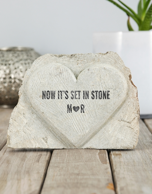 personalised: Personalised Set in Stone Heart!