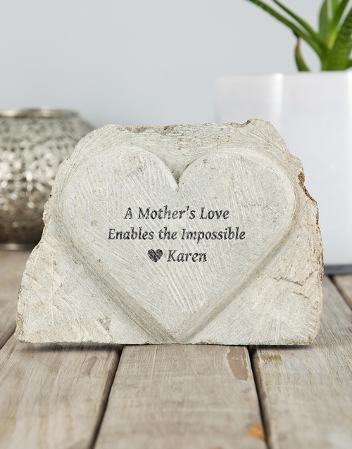 home-decor: Personalised Mother Love Stone Heart!