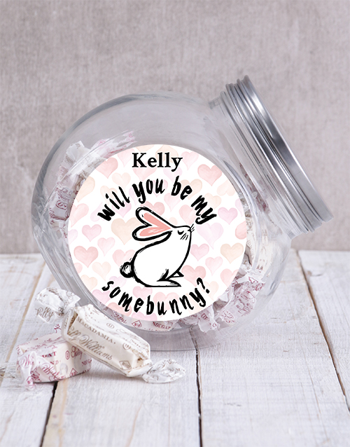 easter: Personalised Be My Somebunny Candy Jar!