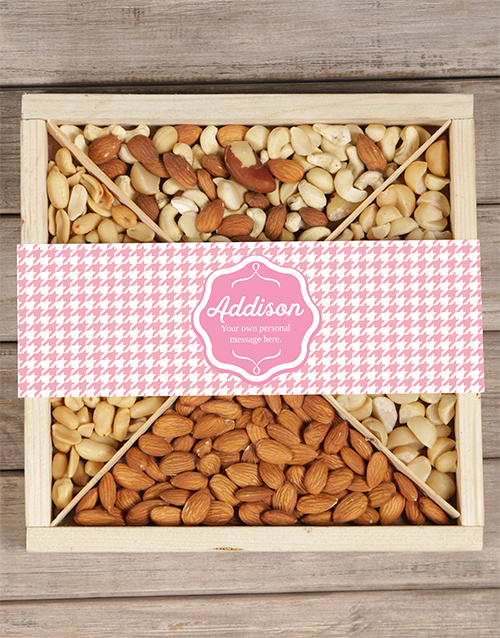 personalised: Personalised Pink Nut Tray!