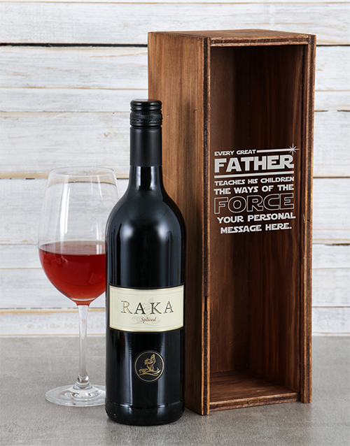 fine-alcohol: Personalised Fathers Force Wine Crate!