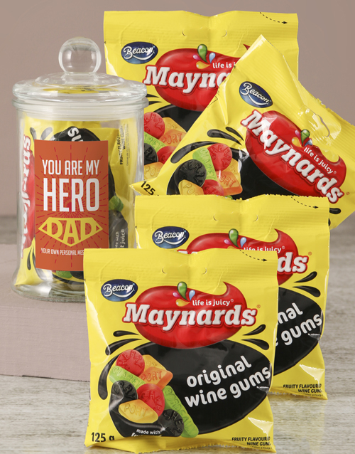 fathers-day: Personalised Hero Dad Candy Jar!