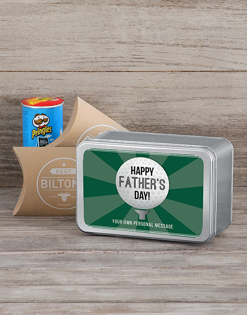 fathers-day: Personalised Golf Fathers Day Snack Tin!