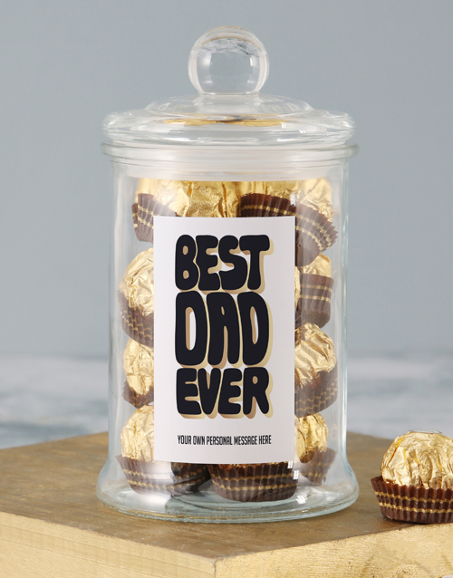 fathers-day: Personalised Best Dad Candy Jar!