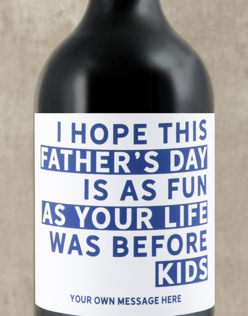 fathers-day: Personalised Life Before Kids Wine!