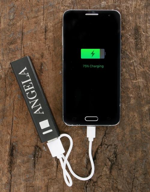 gadgets: Personalised Black Powerbank!