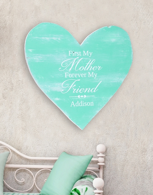 mothers-day: Personalised Mom Forever Wooden Heart!