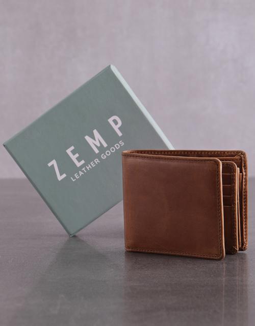 grandparents-day: Personalised ZEMP Tan James Mens Wallet!