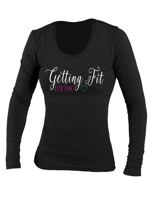 clothing: Personalised Fit For Two Longsleeve T Shirt!