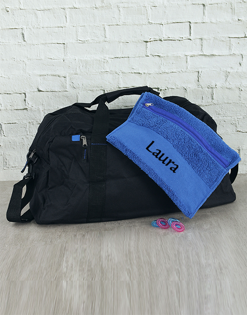 corporate: Personalised Towel with Gym Bag and Bobble Kit!