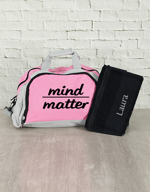 activewear: Personalised Mind Over Matter Sports Bag and Towel!