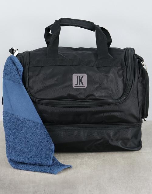 activewear: Personalised Golfers Towel and Bag Hamper!