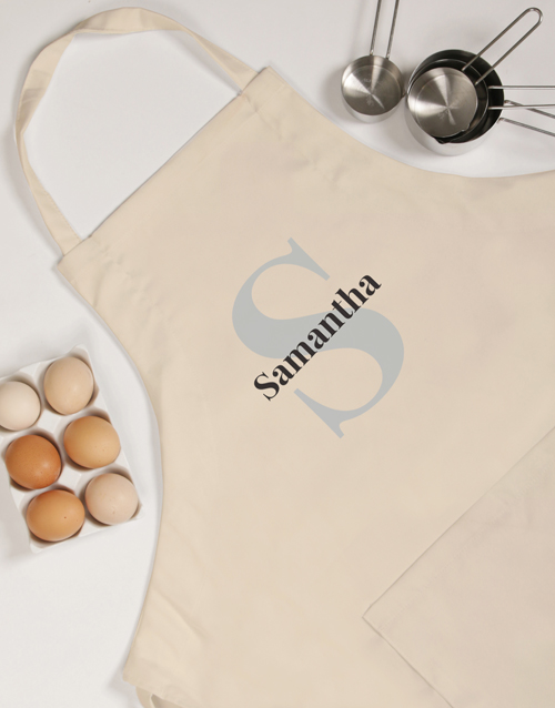 personalised: Personalised Name and Initial Apron!