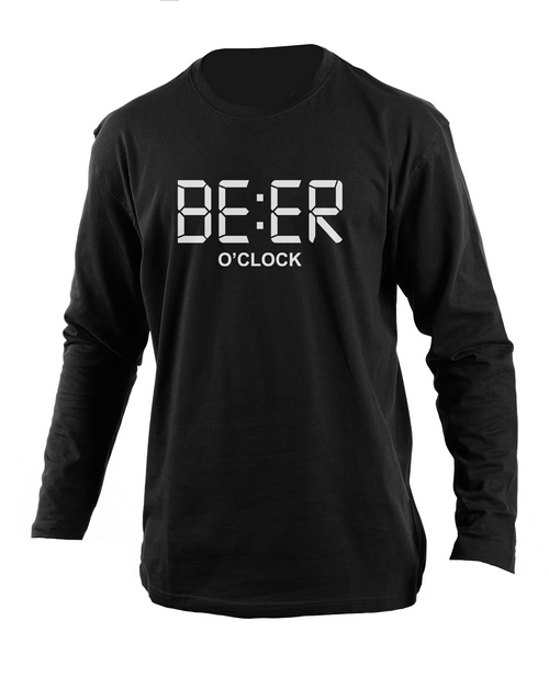 clothing: Personalised Black Beer Longsleeve T Shirt!