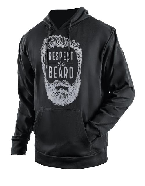 clothing: Personalised Black Respect The Beard Hoodie!