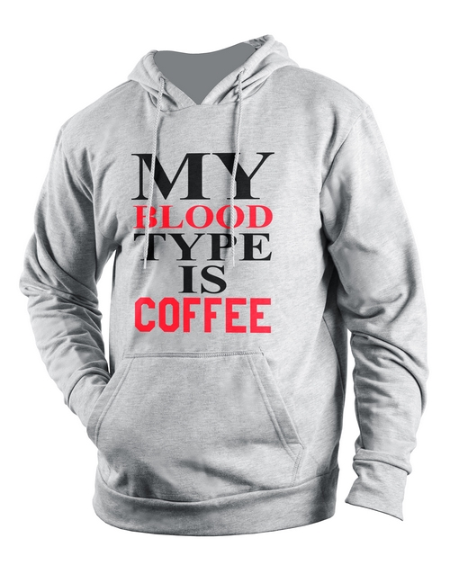 clothing: Personalised Grey Coffee Hoodie!