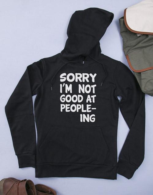 clothing: Personalised People Skills Hoodie!