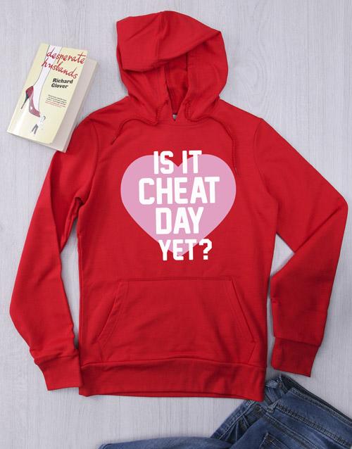 personalised: Personalised Red Cheat Day Hoodie!