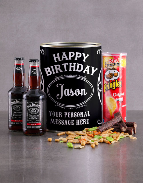 personalised: Personalised Birthday Jack and Snacks Bro Bucket!