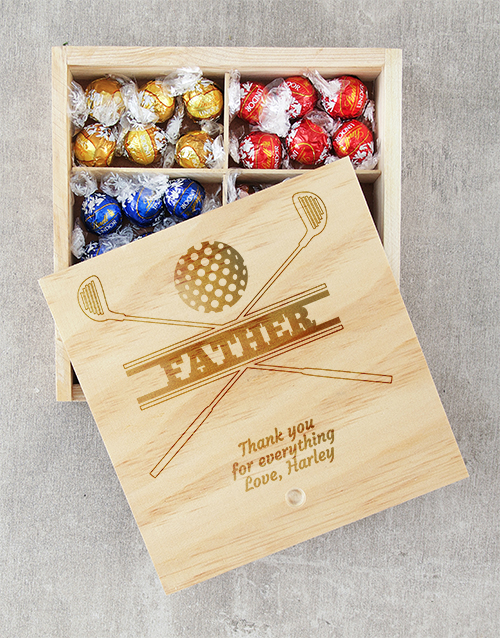 fathers-day: Personalised Golfers Lindt Tray!