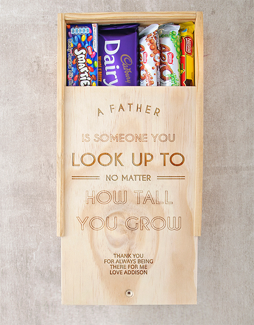chocolate: Personalised  Look Up To Choc Crate!
