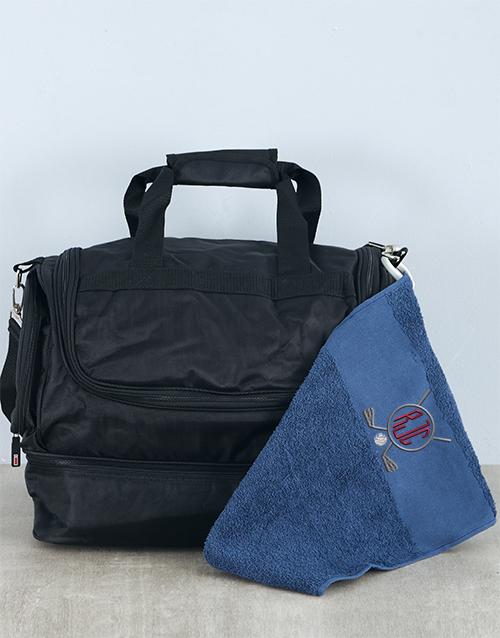 bosses-day: Personalised Golfers Towel and Bag Hamper!