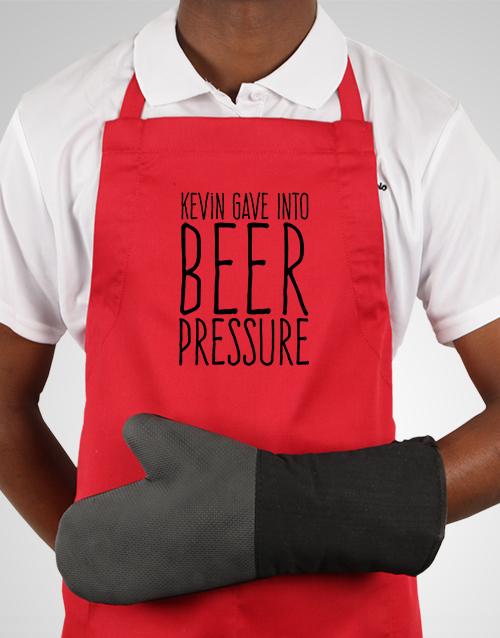 personalised: Personalised Beer Pressure Apron!