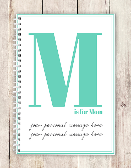 personalised: Personalised Initial and Message Notebook!