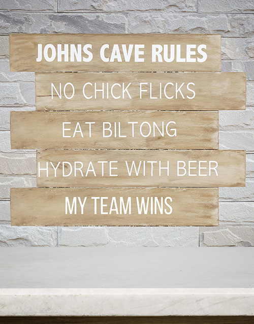 home-decor: Personalised Cave Rules Panel Artwork!