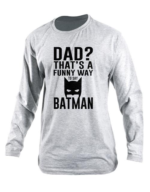 clothing: Personalised Dad Batman Longsleeve T Shirt!