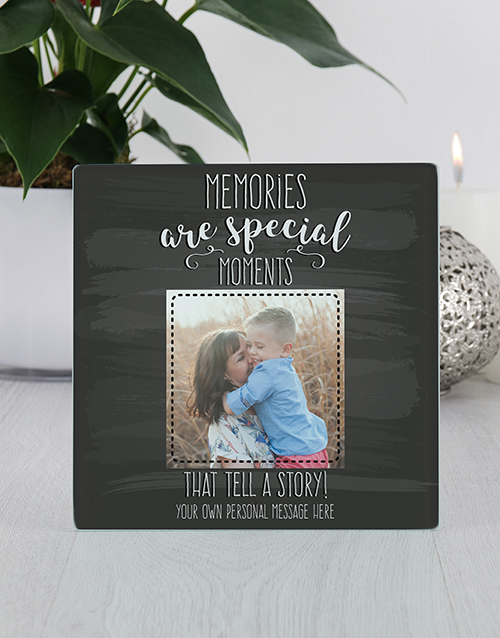 personalised: Personalised Memories  Glass Tile Photo Frame!