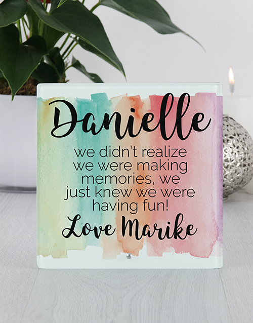 home-decor: Personalised Fun Glass Tile Photo Frame!