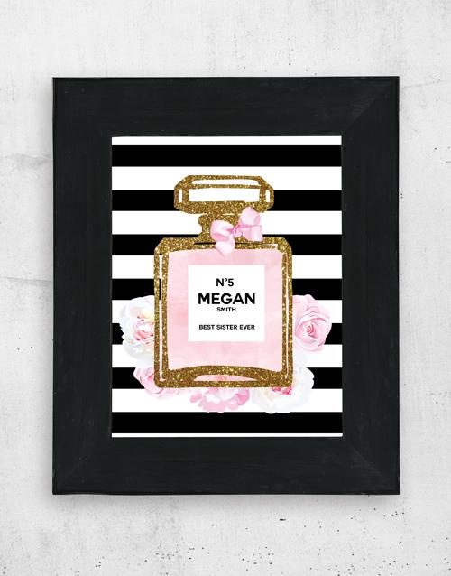 frames: Personalised Perfume Wall Art!