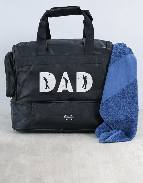 activewear: Personalised Dad Golf Bag and Towel!