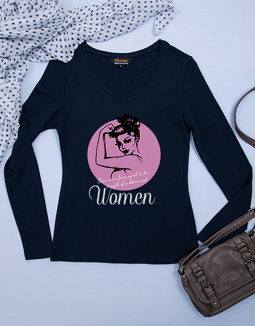 clothing: Personalised Determined Woman Longsleeve T Shirt!