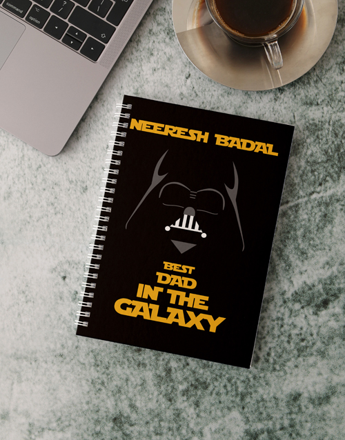 fathers-day: Personalised Galaxy Dad Notebook!