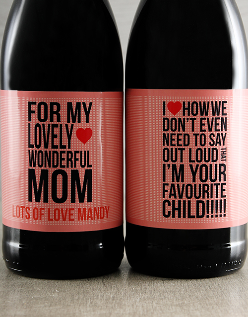 mothers-day: Mothers Day Personalised Wine Duo!