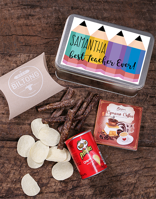 gourmet: Personalised Pencil Snack Tin!