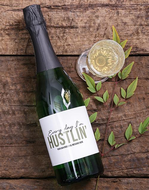 fine-alcohol: Personalised Hustlin Wine!