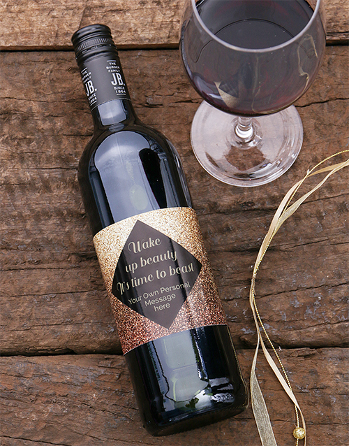fine-alcohol: Personalised Wake Up Beauty Wine!