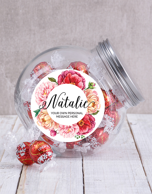 grandparents-day: Personalised Peony Candy Jar!