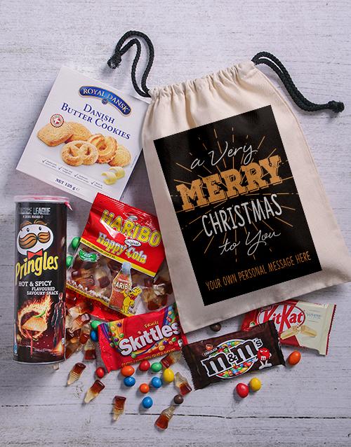 gourmet: Personalised Merry Christmas Goodie Bag!