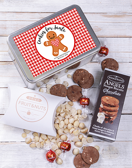 christmas: Personalised Cookies for Santa Snack Tin!