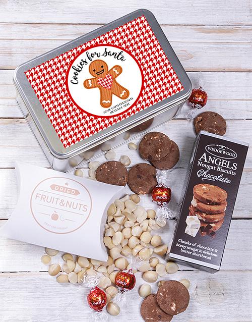 Personalised Cookies For Santa Snack Tin Gourmet Gifts Netflorist