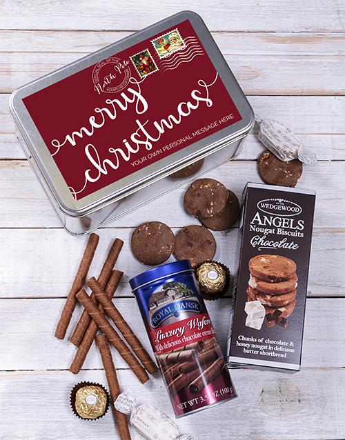 christmas: Personalised Christmas Post Snack Tin!