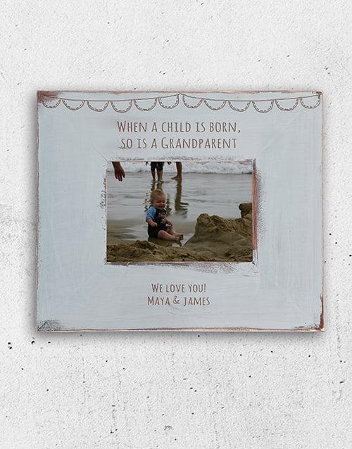 grandparents-day: Personalised Grandparent is Born Frame!