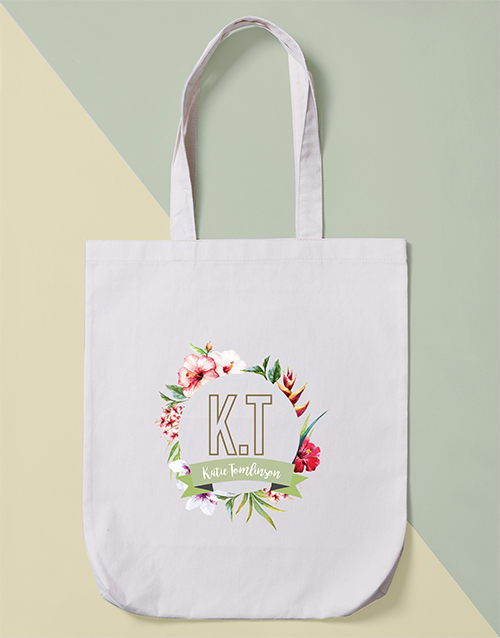 personalised: Personalised Tropical Tote Bag!