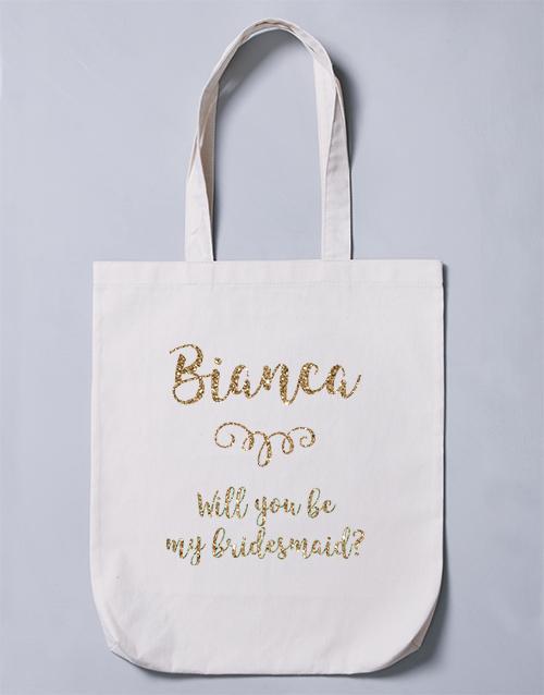 apparel: Personalised Bridesmaid Tote Bag!